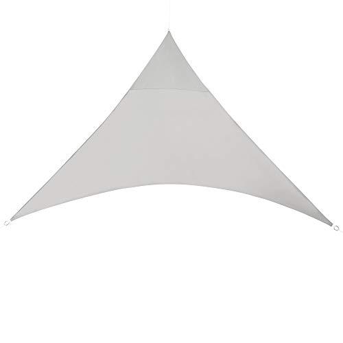 [en.casa] Toldo Vela de Sombra para jardín Sombrilla Parasol Repelente al Agua Triangular 4m x 4m x 4m Gris Claro