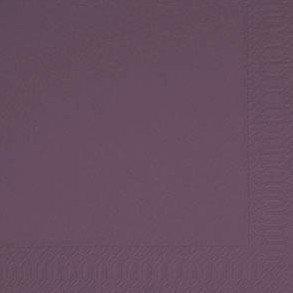 Duni Cocktail-Servietten 3lagig Zelltuch Uni plum, 24 x 24 cm, 250 Stück