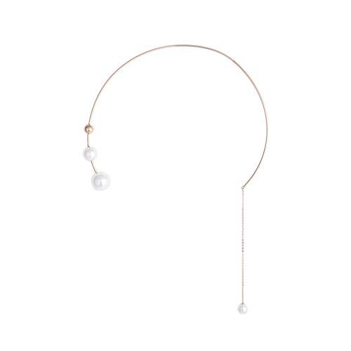 LTCTL Collar Collar Colgante Colgante de Perlas para Mujeres, Collar de Moda de Oro Real Plateado Copper, Diadema Multifuncional, Gran Gran Regalo-Gold Regalo Collar