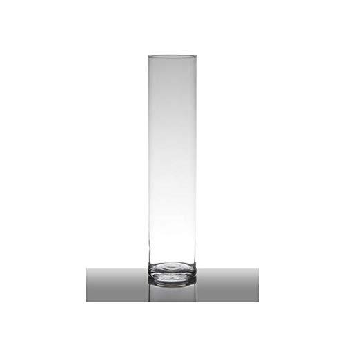 Hakbijl Dekoglas, Vase Zylinder H. 40cm D. 9cmtransparent rund Glas