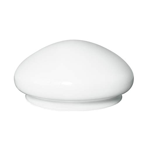 LHLYCLX Mushroom White Glass Shade, Vintage Ceiling Fan Light Fixture Cover Replacement (9-7/8'')