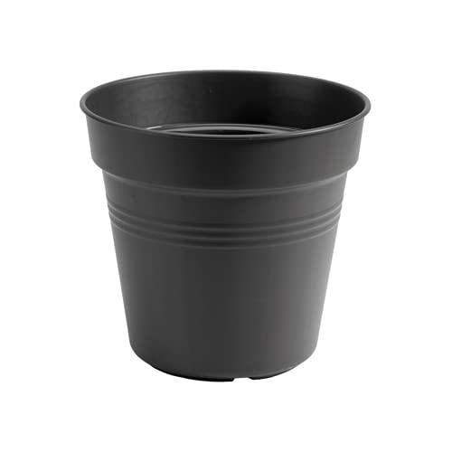 Elho Green Basics Anzuchttopf 8 - Growpot für InnenAußenzüchten Und Ernten - Ø 7.5 x H 12 - Living Schwarz