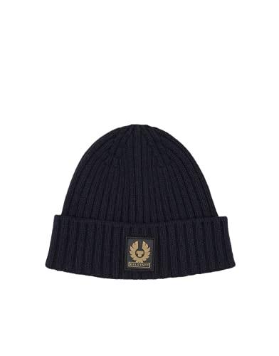 Belstaff 75630099-80010 Watch Hat with Patch Dark Ink Blue Gorra de punto para hombre, talla única