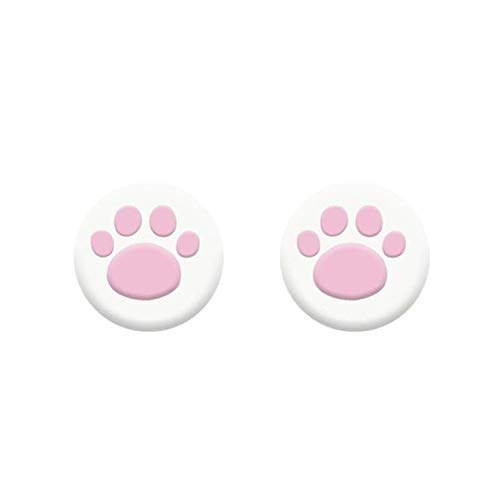 2PCS Thumb Stick Grips Cap Cover Joystick Grip Caps Replacement for PS5 PS4 Xbox one Xbox 360 Wii U NS Pro Cat Paw Cute Pink