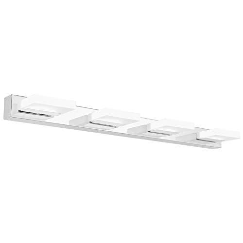 Klighten LED Spiegelleuchte 75CM 16W Spiegelschrank Spiegellampe 360° Einstellbar Badlampe für Badzimmer und Spiegelschrank Kaltweiß 6000K