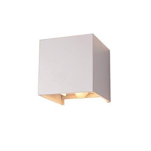 Klighten LED sensor cube wall lamp,adjustable light beam (7W, Weiß, 3000K)