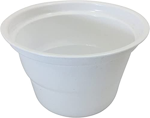 Disposable Plastic Bowls, Katori - White (100 Pack)