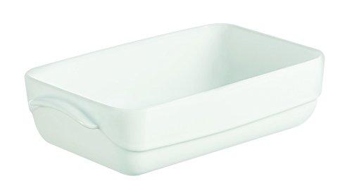 Pyrex Wave Tegame Rettangolare, Ceramica, 4.6 Litri, Bianco, 33 cm