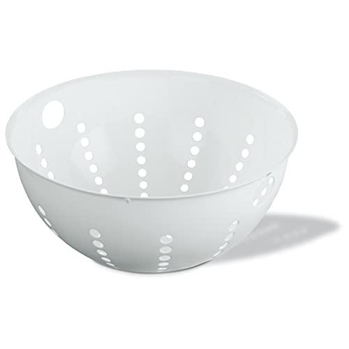 Koziol 3808525 Passoire 5 L, Plastique, Blanc Opaque, 29,4 x 29,4 x 12,7 cm