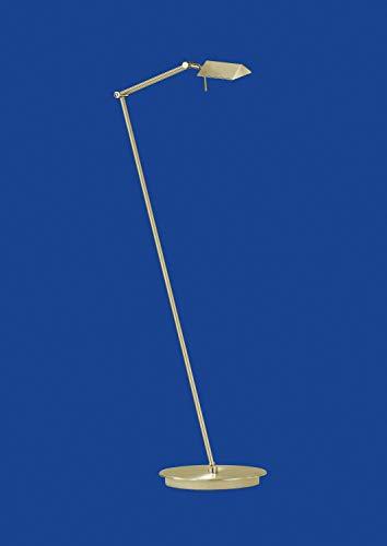 Deutsche Halogen Stehleuchte Messing matt Fußdimmer Ausladung von 48-80cm