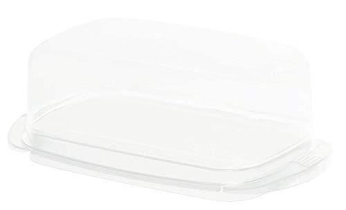 Rotho Fresh Butterdose, Kunststoff (SAN) BPA-frei, weiss/transparent, (18,0 x 9,5 x 6,5 cm)