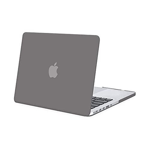 MOSISO Hülle Kompatibel mit MacBook Pro Retina 13 - Plastik Hartschale Hülle Kompatibel mit MacBook Pro Retina 13 Zoll Ältere Version (Modell: A1502 und A1425) (Release 2015 - Ende 2012), Grau