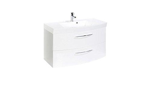 Held Möbel Waschtisch Florida, Breite 100 cm, (2-tlg.) weiß