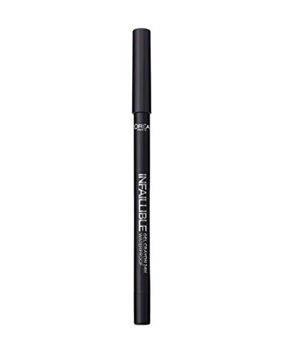 LOreal Paris Infalible Gel Crayon 24H Lapiz de Ojos Gel Waterproof 01 Back To Black