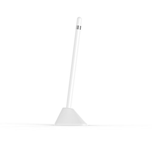 PencilStand for Apple Pencil (White) - Ultra-Secure Stand for Apple Pencil - Will not tip Over, Holds with Micro-Suction. Small Footprint Next to iPad Pro.