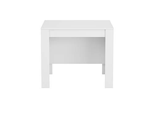 13Casa - Granada A1 - Tavolo consolle estensibile. Dim: 90x50x77 h cm. Col: Bianco. Mat: Melamina.