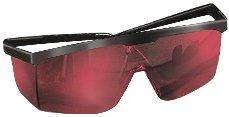 Stanley Laserbrille 1-77-171 Rot – Laserlichtbrille für einfacheres Erkennen von Laserstrahlen – Optimal bei ungünstigen Lichtverhältnissen – Rote Kunststoff-Gläser mit schwarzem Gestell