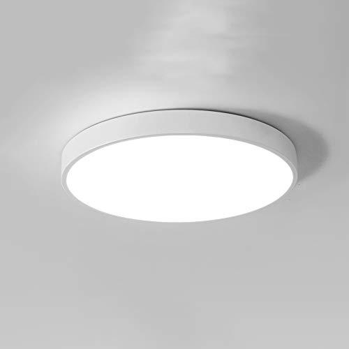 ZHANGL Moderno Minimalista Lámpara de Techo Ultra Delgada LED LED Dormitorio Lámpara Lámpara Lámpara Pasillo Lámpara Corredor Embedded Techo Tricolor Luz Arte Arte Acrílico Iluminación 30 cm