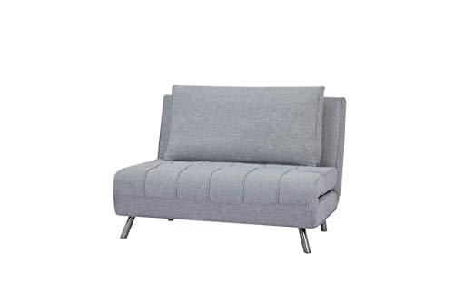 Marca Amazon - Movian Scutari - Sofá cama de dos plazas, 122 x 91 x 91, gris claro