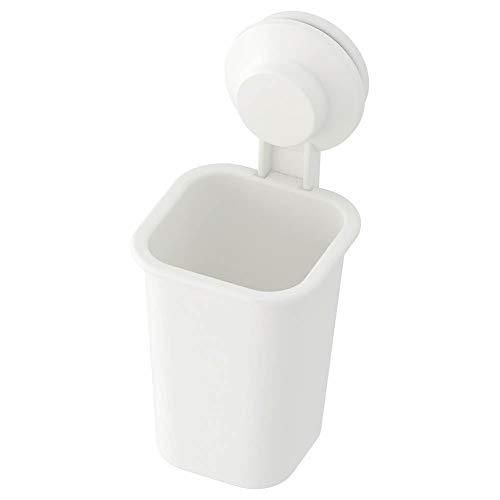 IKEA TISKEN Zahnbürstenhalter mit Saugnapf; in weiß
