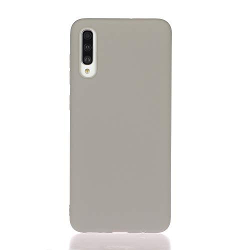 Everainy Compatibel voor Samsung Galaxy A50 2019/A30s 2019/A50s 2019 Silicone Geval Hoes Ultra slank Zaak Ultradun Hoesje Rubber Stootvast Bumper Schokbestendig TPU Gel Case Cover (grijs)