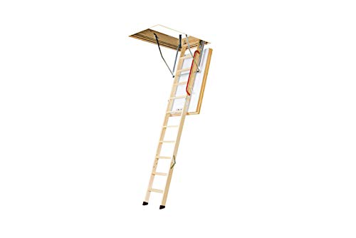 FAKRO LWT 66894 Wooden Thermo Attic Ladder with 12.5 R-Value for 25-Inch x 54-Inch Rough Openings