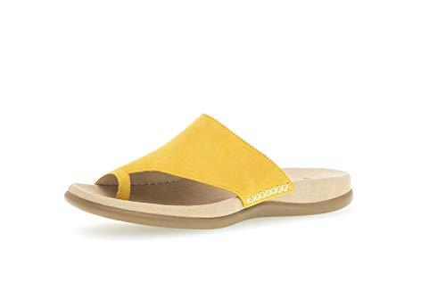 Gabor Damen ClogsPantoletten, Frauen Clogs,Best Fitting, elegant Women's Women Woman Freizeit leger Slipper Slides Zehentrenner,Sun,43 EU / 9 UK