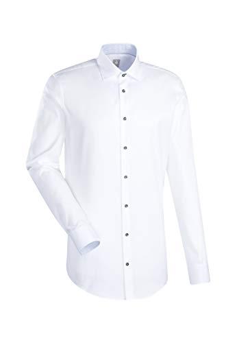 Jacques Britt Herren Business Hemd Custom Fit Extra Langer Arm Kentkragen Bügelleicht