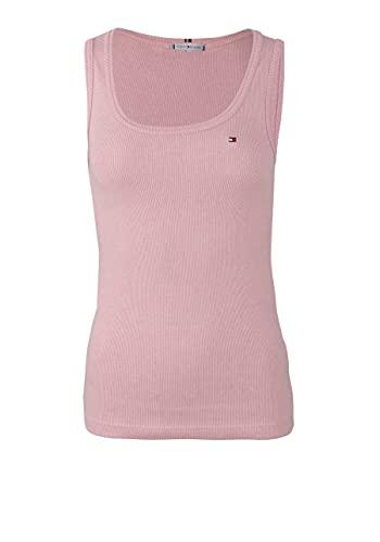 Tommy Hilfiger Slim Vertical STP Tank Top Camisa, Pink, SG para Mujer
