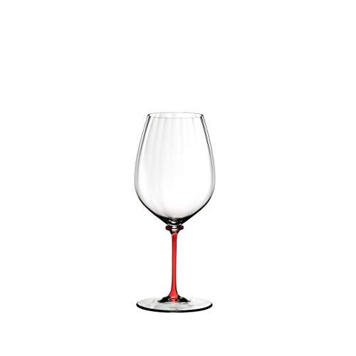 RIEDEL Fatto A Mano Performance 4884/0r - Copa de Vino Tinto (Cristal, 834 ml), Color Rojo