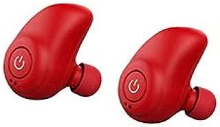 shiYsRL Tws Wireless Bluetooth 4.2 Earbuds Mini In Ear Bass Waterproof Earbuds Stereo Earphone One Size Red