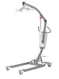 GRUA DE TRASLADO WINN-MOTION E-175.+ARNES • Grúa adaptada para los pacientes que pesan hasta 175 kg. • Ergonómica: recoge a una persona del suelo y se eleva hasta 1,74 m.