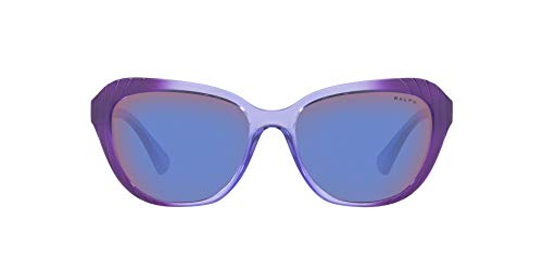 Ralph Lauren RALPH BY 0RA5258 Gafas de sol, Purple Gr Horiz Dark Purple, 56 para Mujer