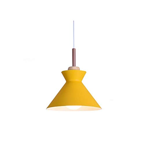 Lámpara colgante moderna Lámpara de aluminio Lámpara colgante Iluminación de estilo nórdico postmoderno colgante de techo para comedor, cocina, barra de café Dormitorio XYJGWDD (Color : Yellow)