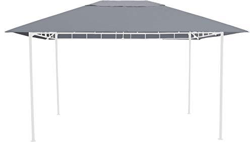 GRASEKAMP Qualität seit 1972 Ersatzdach 3x4m Grau zu Gartenpavillon Antik Pavillon Partyzelt
