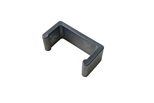 CLP Polyrattan Gartenmöbel Rundrattan-Verbindungsstück | Verbindungsklammer Gartenmöbel | Halteklammer für einzelne Elemente, Farbe:schwarz