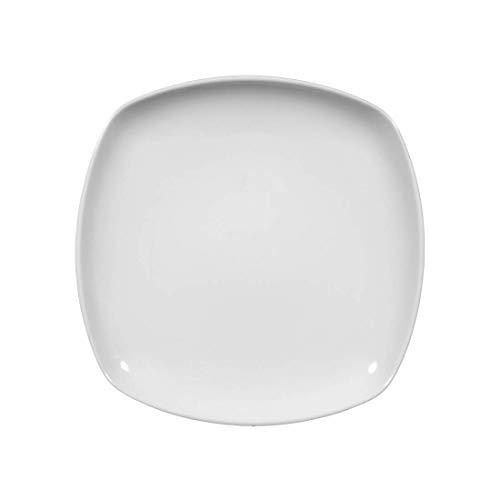 Seltmann Weiden 001.017972 Sketch - Teller/Kuchenteller/Frühstücksteller - flach - eckig - Ø 20 cm - Porzellan - weiß
