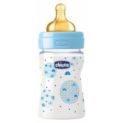 BIBERON FISIOLOGICO BOCA ANCHA CHICCO +0 MESES 150 ML COLOR VERDE