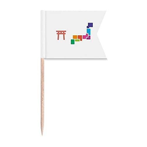 Traditionelle japanische Tokio-Zahnstocher-Flaggen für Party, Kuchen, Lebensmittel, Käseplatte