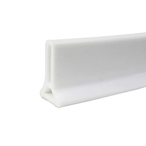 Pantalla de sellado de piso de baño de silicona para habitación húmeda, tira de sellado de puerta, barrera de ducha plegable para la separación en húmedo y seco
