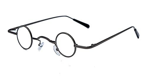 Steampunk Pequeñas Gafas de Sol Mujer Vintage Retro Retro Espejo Redondo Gafas de Sol Hombres Eyeaglass de Lujo UV400 Oculos (Color : 4, Size : F)