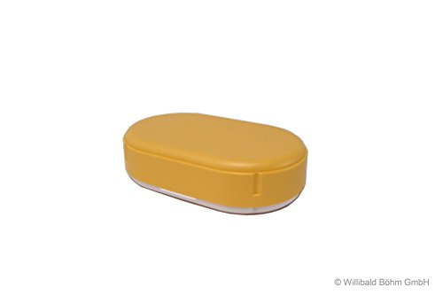 Brotdose, oval, höhenverstellbar, pastell-gelb, Sonja-PLASTIC, Made in Germany