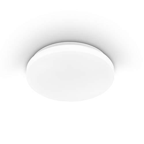 EGLO Deckenlampe Pogliola, Ø 26 cm, 1 flammige Wandlampe, LED Deckenleuchte aus Stahl und Kunststoff in weiß, Wohnzimmerlampe, Küchenlampe, Bürolampe, Flurlampe Decke