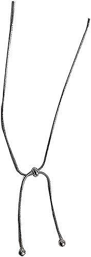 huangshuhua Collar Collar Diseño Simple y pequeño Cadena de Viento Fresco Collar de Cadena de Serpiente Cadena de clavícula Regalo Niñas Niños Collar