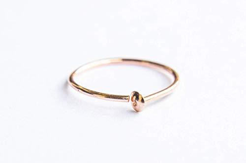 24G Rose Gold Nose Ring Hoop - Delicate Feminine Adjustable 24 Gauge 6mm - 7mm Piercing Jewelry for Women