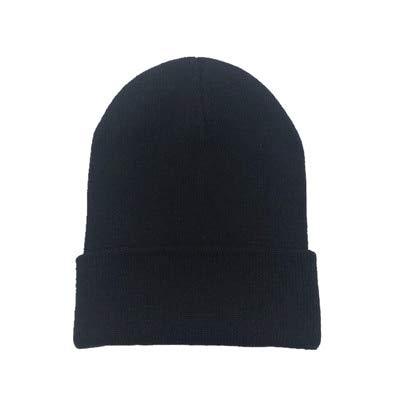 Sombreros de Invierno para Mujer nuevos Gorros de Punto sólido Lindo Sombrero niñas otoño Gorro Femenino Gorros más cálidos Gorro Informal para Mujer-Black
