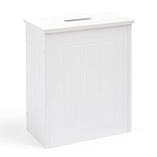 VonHaus Cesto de almacenaje para el baño Estilo Colonial. Mueble para Guardar Papel de baño y Productos de Limpieza