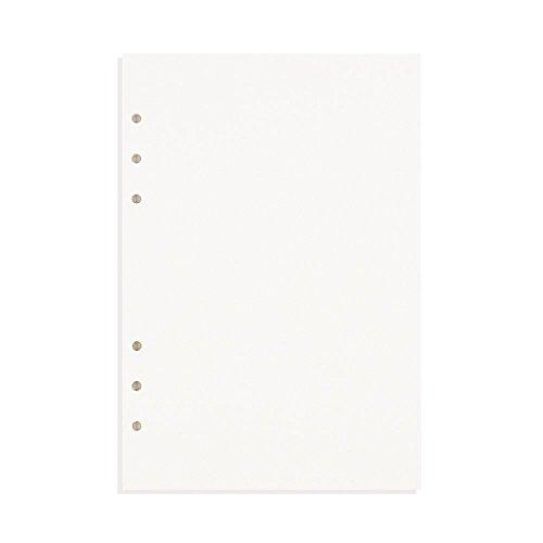 Zhi Jin, raccoglitore ricaricabile con inserti, adatto per quaderni e taccuini. Formato: A5. Con portapenne A5-Blank Paper