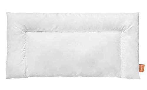 sleepling 197236 Bauchschläferkissen aus Baumwollmischgewebe, 60 Grad waschbar, Ökotex 100, 40 x 80 cm, weiß
