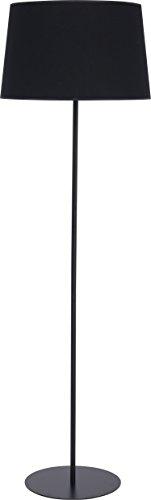Stehleuchte Schwarz Einfarbig Stoff Schirm Metall Gestell Bauhaus Design H 148cm E27 Flur Beleuchtung Wohnzimmer Stehlampe Couch